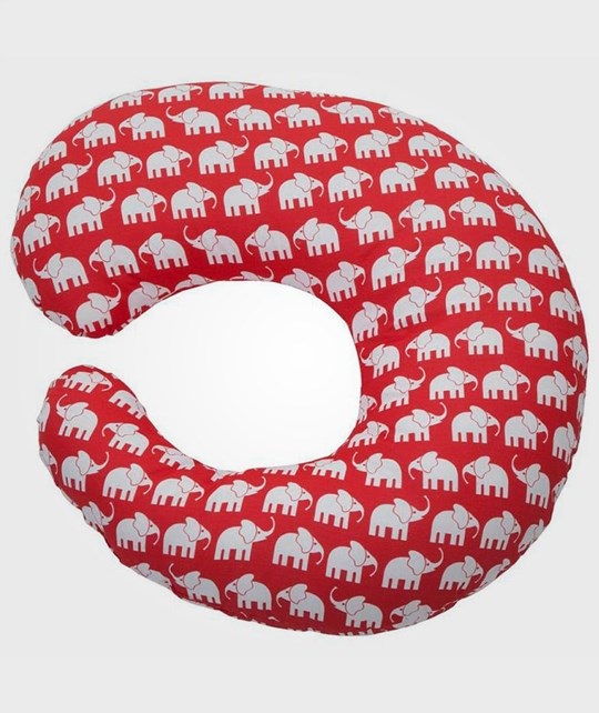 Elephant Nursing Pillow Elephant Red Rød