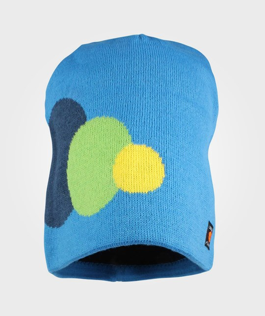 Isbjörn Of Sweden Circles Knitted Cap SwBlue Blue