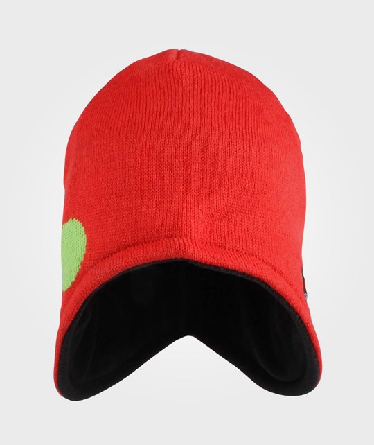 Isbjörn Of Sweden Bubbles Knitted Cap Happy Red Rød