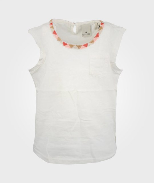 Scotch R'belle SS Tee Neckline White