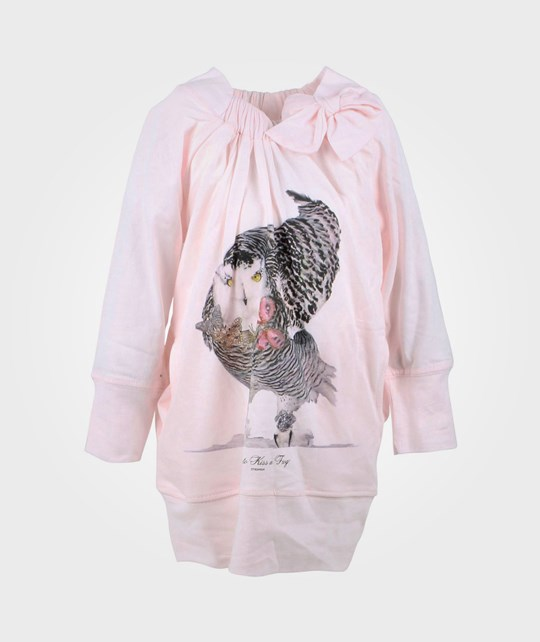 How To Kiss A Frog Dress W Bow Owl Powder Prin Pink