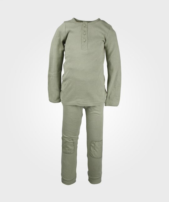 Cotton & Button Long Placket Soft Olive Green