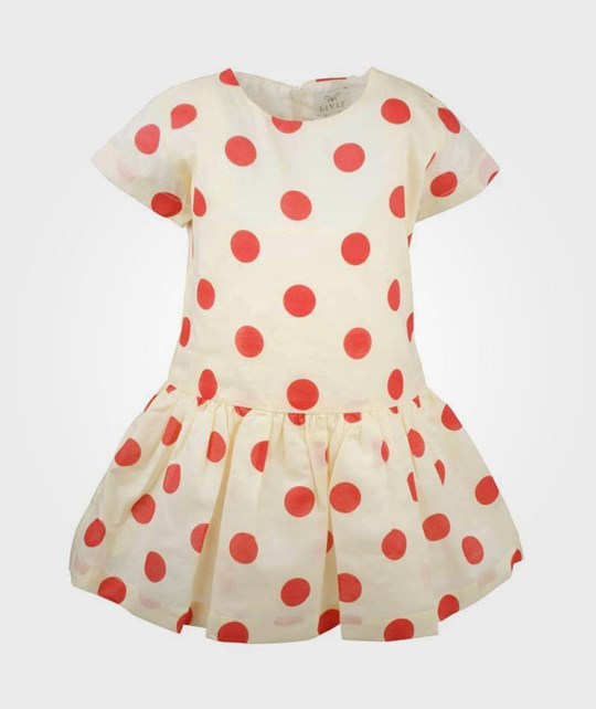 Livly Sandy Dress Strawberry Dot White