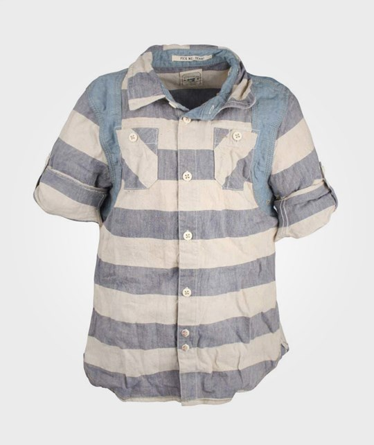 Scotch & Soda Mix and Match Check Shirt Blue