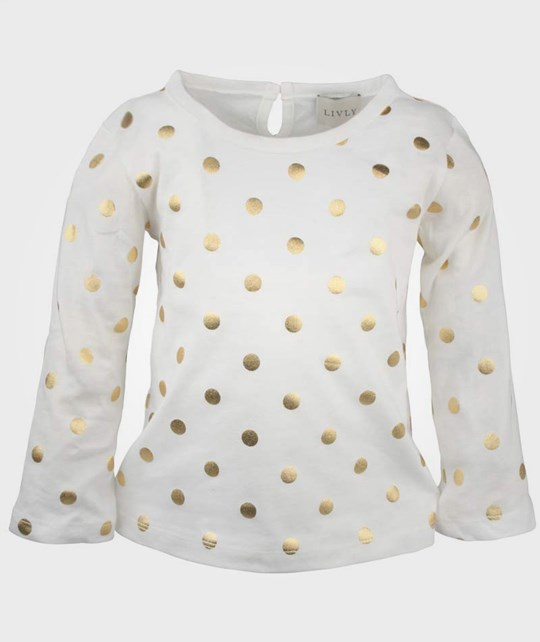 Livly Essential Shirt Gold Dots White