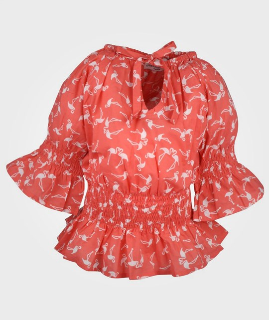How To Kiss A Frog Lilian Blouse Coral Flamingo оранжевый