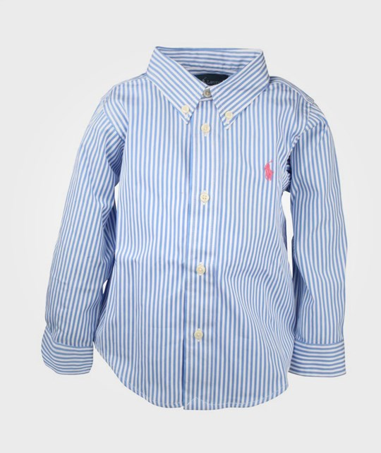 Ralph Lauren LS Custom Fit BD Shirt Blue Blue