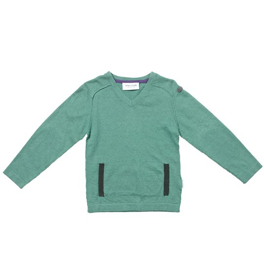 Mini A Ture Erasmus Sweater Frosty Green Green