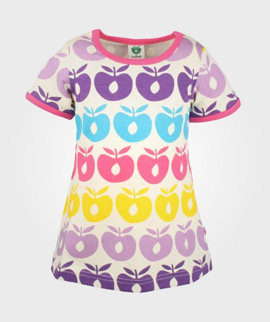 Småfolk Baby Dress SS, Multi Apples Pink