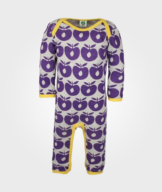 Småfolk Bodysuit, Apples Purple Purple