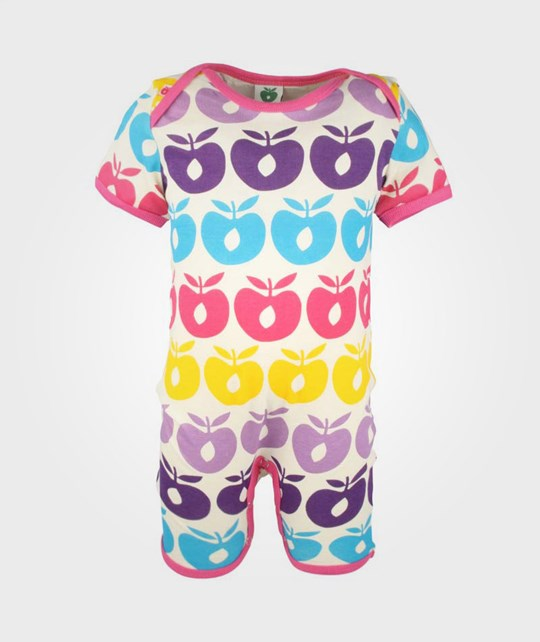 Småfolk Bodysuit, Multi Apples Pink Pink