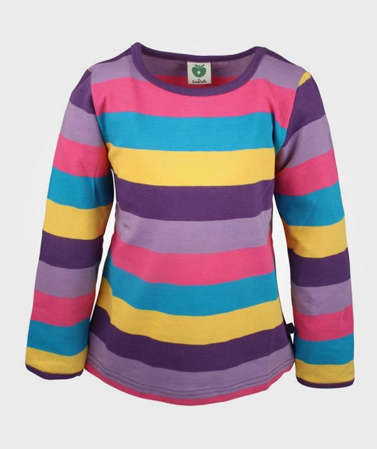 Småfolk T-Shirt Stripe Purple  Purple