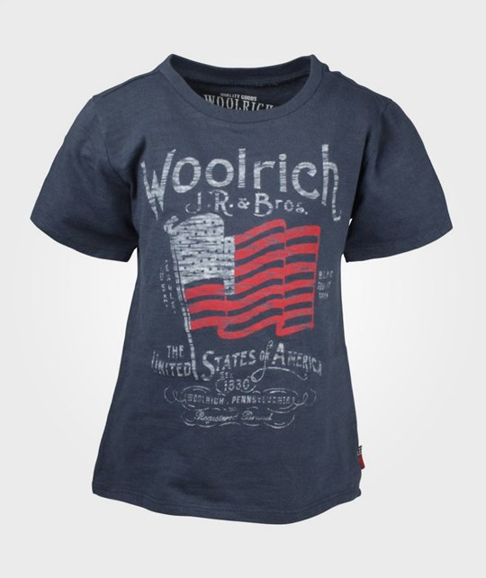 Woolrich Flag Tee Grey Sea Black