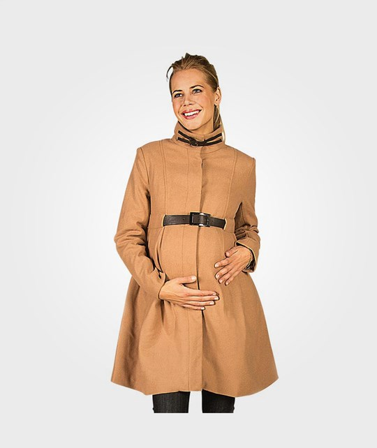 Mom2Mom Cashmere Coat Design Latte BROWN