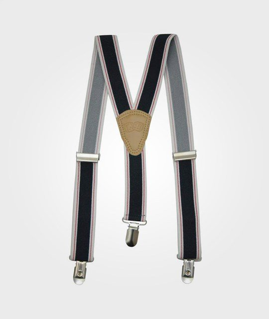 Rockefella Jerry Suspenders  Blue/White/Red  Blue