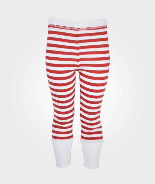 Rockefella Rusty Leggings Red White Strip Red