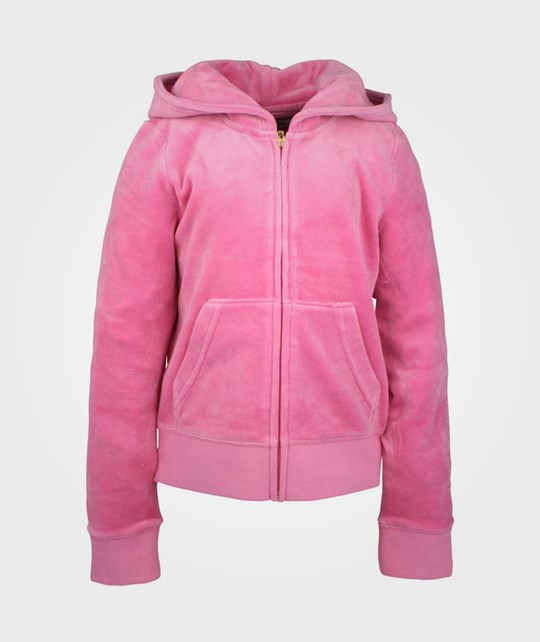 Juicy Couture Hoodie Velour Tiara Cameo Pink
