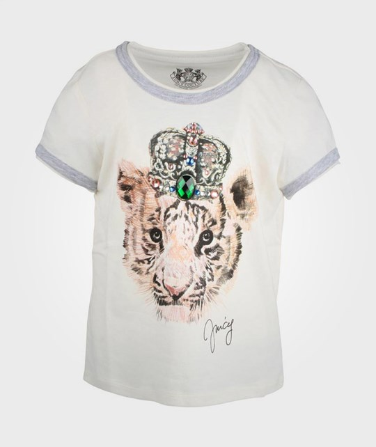 Juicy Couture King Tiger Graphic T-Shirt White
