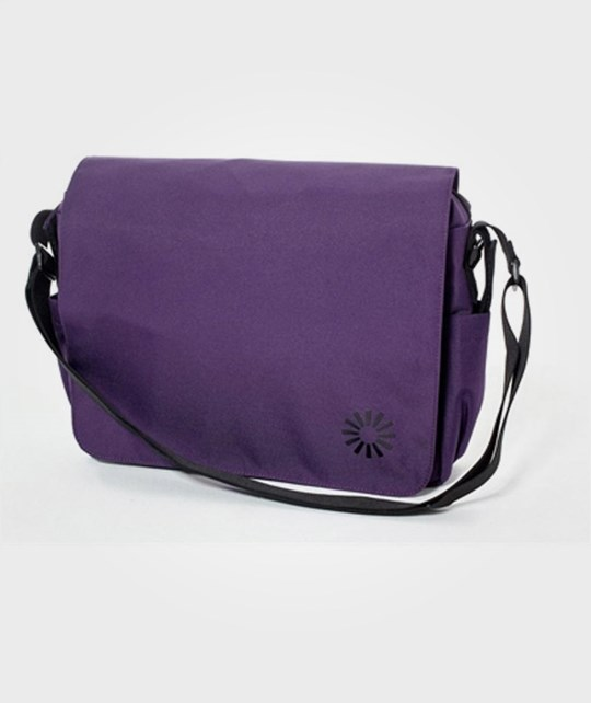 BRIO Diaper Bag Messenger Grape Multi