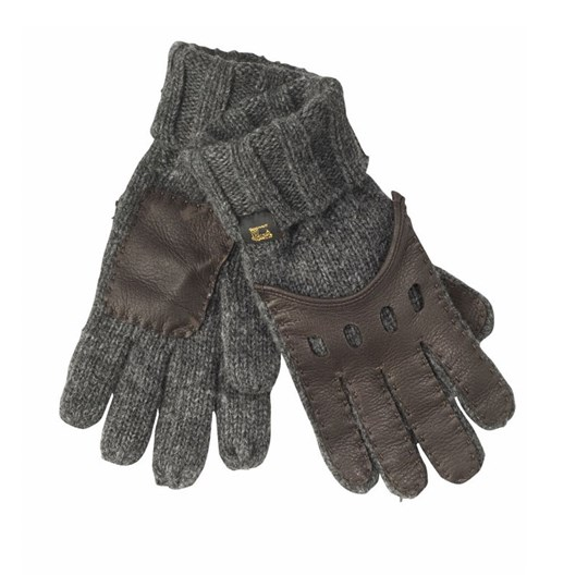 Scotch & Soda Mittens Leather Brown BROWN