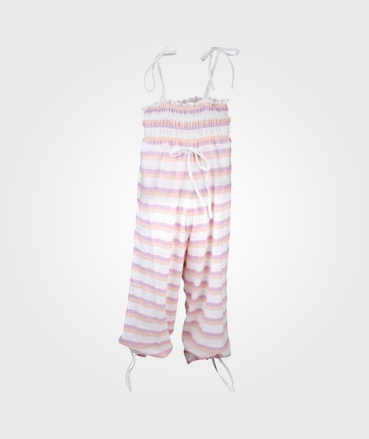 How To Kiss A Frog Sandy Jumpsuit Stripe C peach Pink