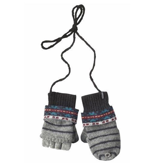 Scotch & Soda Mittens Grey Scotch Black