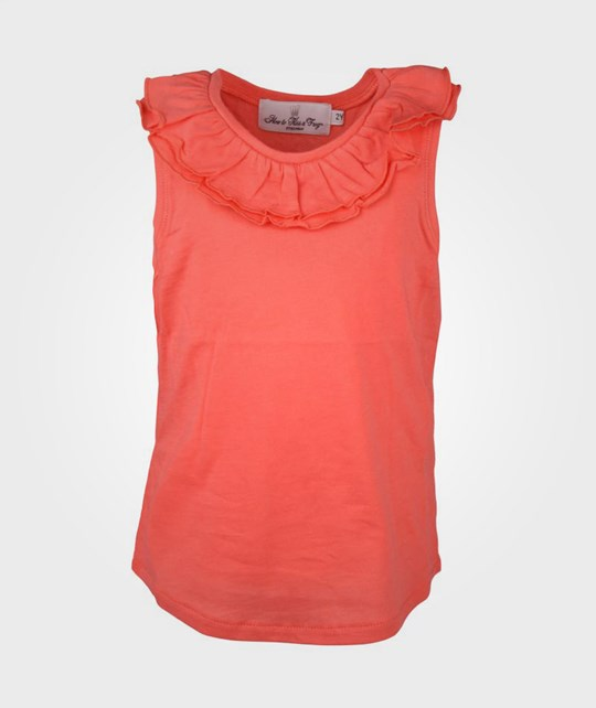 How To Kiss A Frog Basic Top Coral Pink
