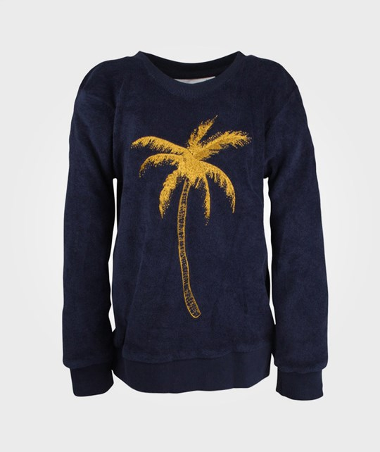 Mini Rodini Terry Palm Sweatshirt DK Blue  Blue