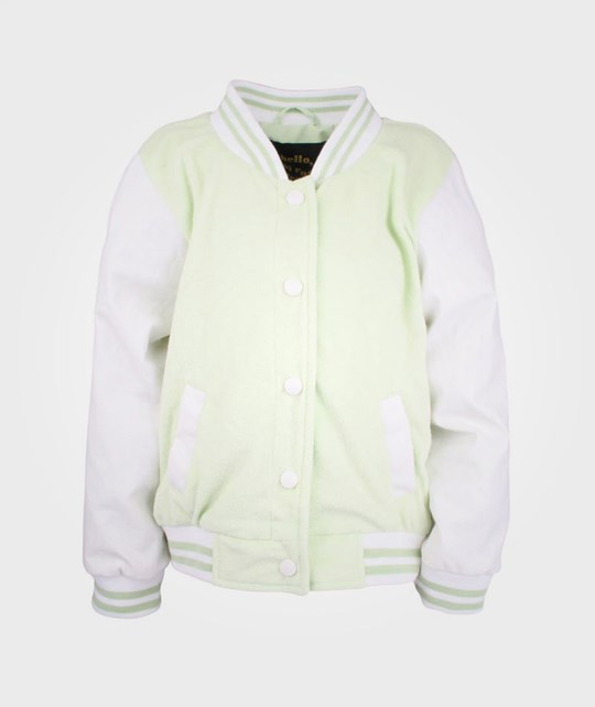 Mini Rodini Terry Baseball Jacket LT Green Green