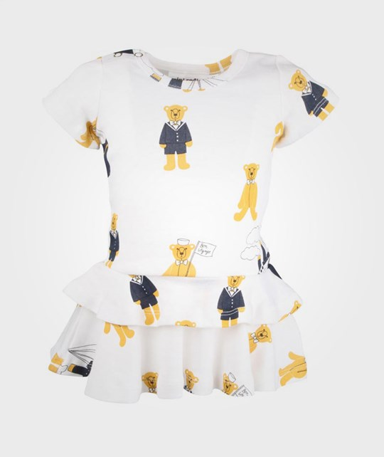 Mini Rodini Teddy AOP Dress White  White