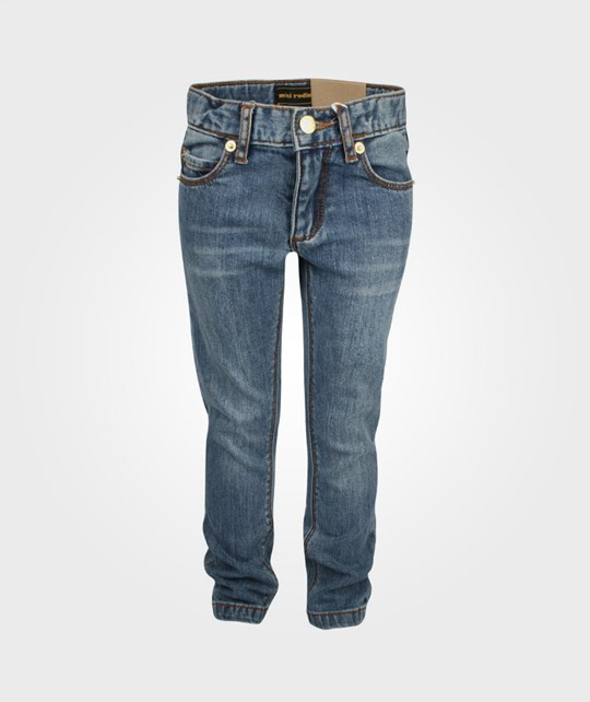 Mini Rodini Santiago Slim Vintage Wash Blue