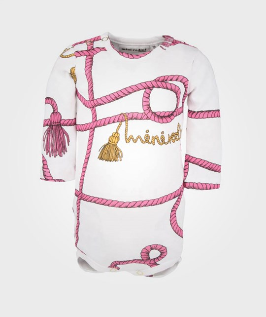 Mini Rodini Rope L/S Body Cerise Pink