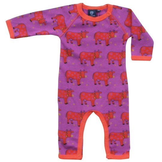 Ej sikke lej Cow Cottonsuit Plum Purple