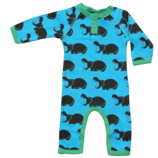 Ej sikke lej Hippo Cottonsuit Turquoise Turquoise