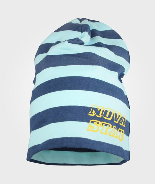 Nova Star Striped Beanie Neptune Blue