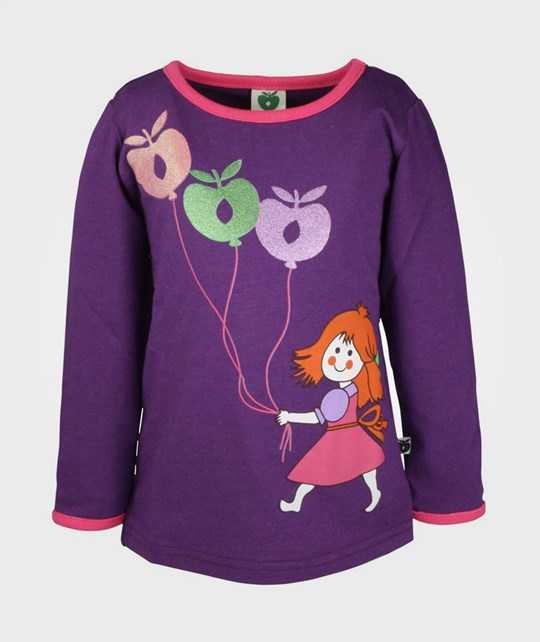 Småfolk T-shirt LS Apple Balloons Purp Purple
