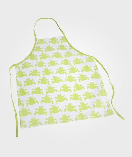 Färg & Form Apron Frog Lime Green