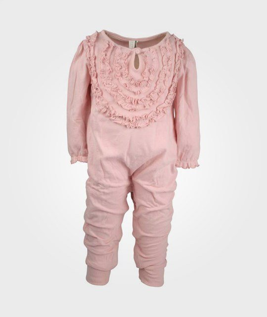 Cotton & Button Long Body Frill Soft Pink Pink