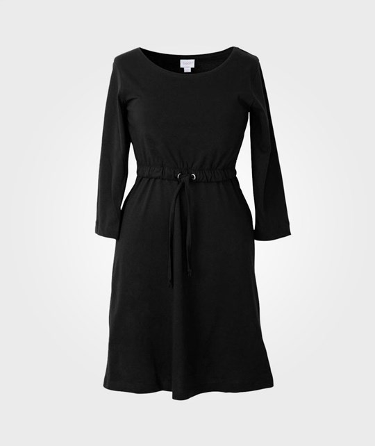 Boob N Tee Dress 3/4 Sleeve Black Black