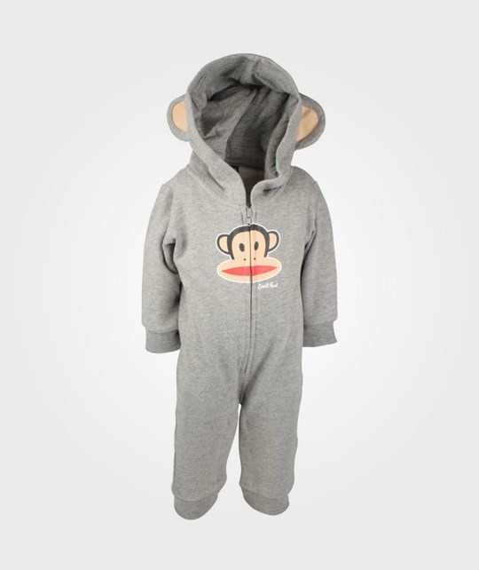 Paul Frank Fleece Coverall Hood Grey Black