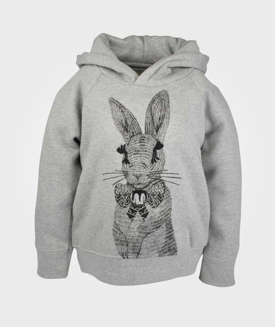 Soft Gallery Siggi Rabbit Sweat Hoodie Grey Black