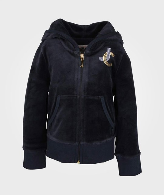 Juicy Couture Basic Hoodie Heart Patch Regal Blue