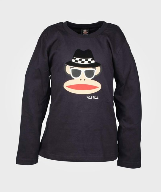 Paul Frank T-Shirt L/S Blues Navy Blue Blue