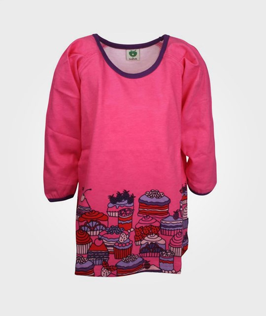 Småfolk Dress LS Sweet Cakes Pink Pink