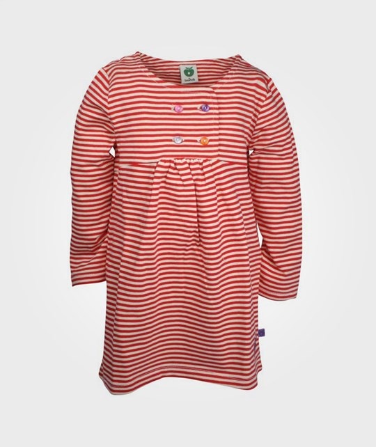 Småfolk Dress LS Thin Stripes Red Red