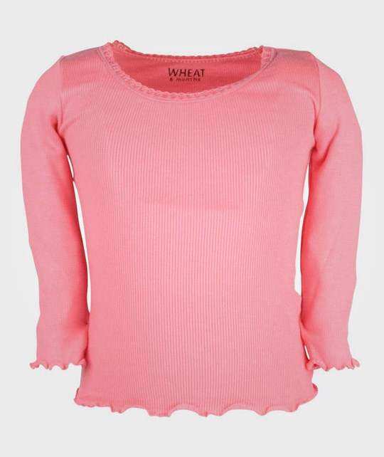 Wheat Rib T-shirt Lipstick Pink