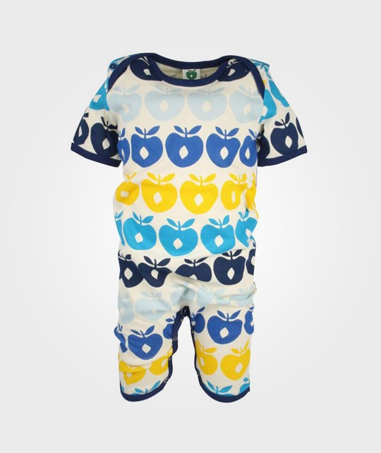Småfolk Summersuit Multi Apples Navy Blue