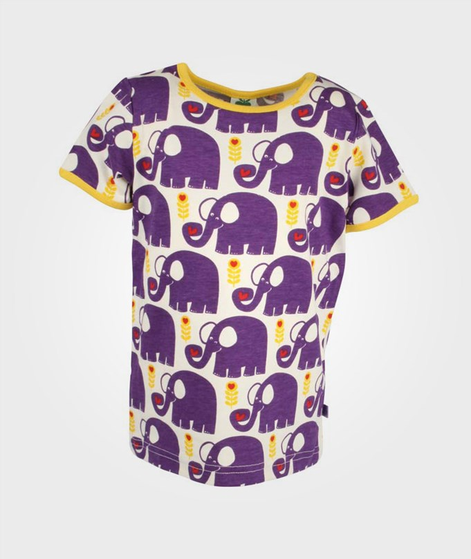 T-Shirt Elephants Purple
