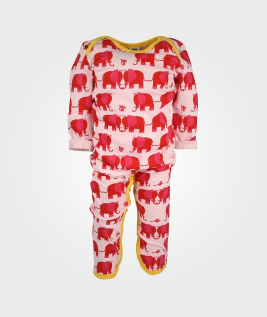 Småfolk Suit Elephants And Mice Pink Pink