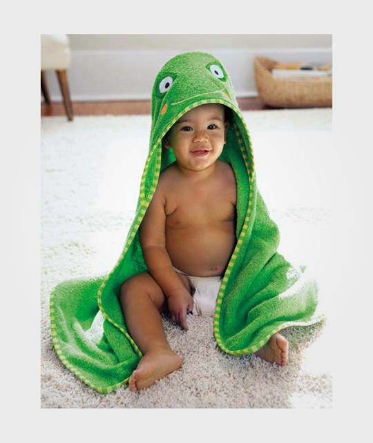 Skip Hop Zoo Bath Cape Frog Green